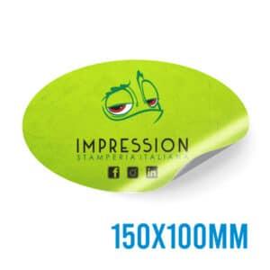 Adesivo ovale personalizzato 150x100