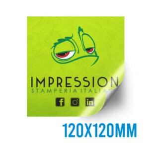 Adesivo quadrato personalizzato 120x120