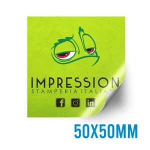 Adesivo quadrato personalizzato 50x50