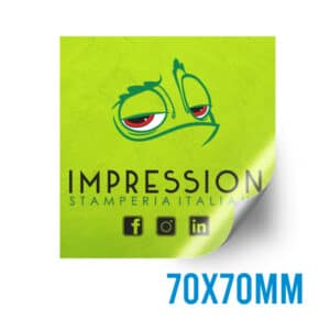 Adesivo quadrato personalizzato 70x70