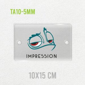 Targa in plexiglass 5mm personalizzata